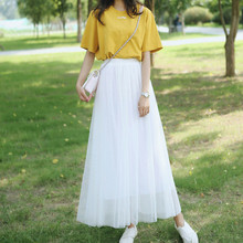 Princess lace summer 2019 plus size skirt streetwear korean harajuku high waist long skirts fashion puffy lolita