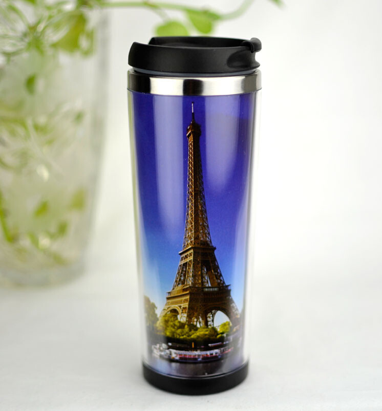 Newest Design Mug Water Cup Plastic Coffee Insert Paper