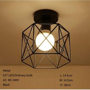 Image 2 - מודרני יצוק ברזל E27 led תקרת מנורות שחור תקרת אורות סלון מטבח חדר שינה מחקר מעבר מסעדת קפה מלון