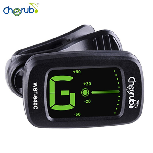 Cherub WST-640C Clip-on Twelve Average Guitar Tuner Clip Chromatic Color on LCD Display Stringed Instruments Parts