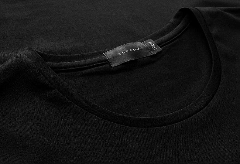 Verano para hombre camisetas de algodón de impresión negro color - Ropa de hombre - foto 4