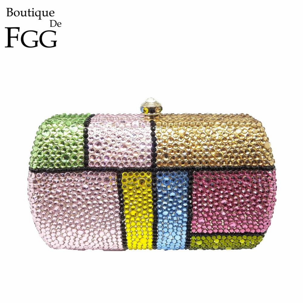 British Plaid Evening Crystal Bags Ladies Wedding Dress Handbags Women Diamond Banquet Clutch Bag Bridal Clutches Bride Purse