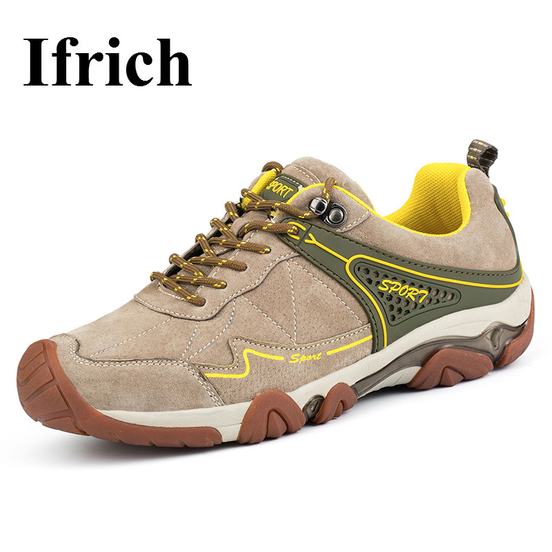 Ifrich 2017 Outdoor Shoes Men Hiking Boots Spring/Summer Mountain Walking Sneakers Leather Trekking Shoes Brand Trekking Boots ifrich hiking shoes men outdoor climbing trekking sneakers spring autumn mountain walking shoes leather blue gray hunting boots