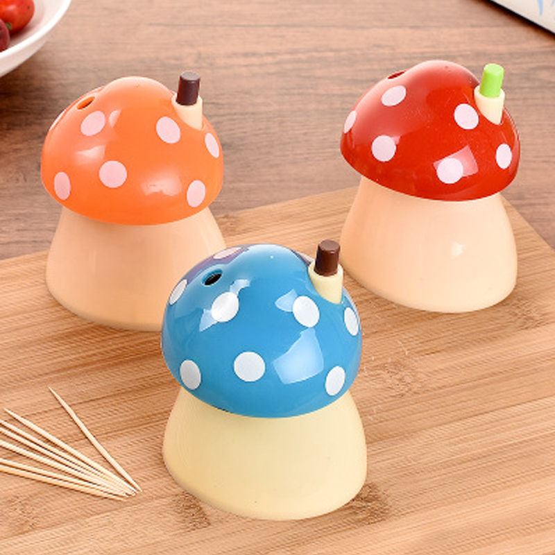 New Arrival Creative House And Mushroom Shaped Automatic Toothpick Holder Pocket Small Toothpick Box Kitchen Accessories