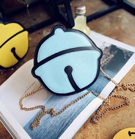 PU leather small bell shape women's cute coin purses change wallets female mini phone pouch bags carteiras feminina for girls