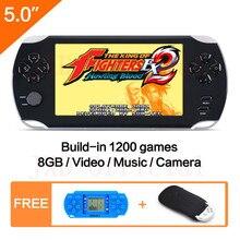 5.0 Pulgadas de Pantalla Grande reproductor De juegos Portátil Incorporado 1200 + no-repeat Nuevos Juegos de Video Consola de Juegos MP3/4 de Juguetes educativos para Niños