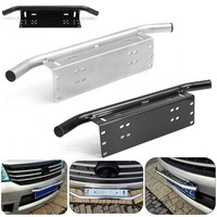Black Silver Car Bull Bar Front Bumper License Plate Mount Bracket Holder Offroad Light Bar