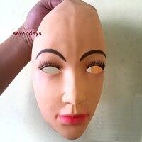 Üst Sınıf El Yapımı Silikon Seksi Ve Tatlı Yarım Kadın Yüz maske Ching Crossdress Maske Crossdresser Doll Mask Lady Cilt Maskesi oyuncak