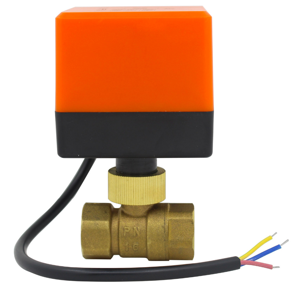 G1/2 Inch AC220v DC24v DC12v Electric Motorized Brass Ball Valve With Electric Drive Actuator 2 Way Dn15 Plumbing CN01 CN02