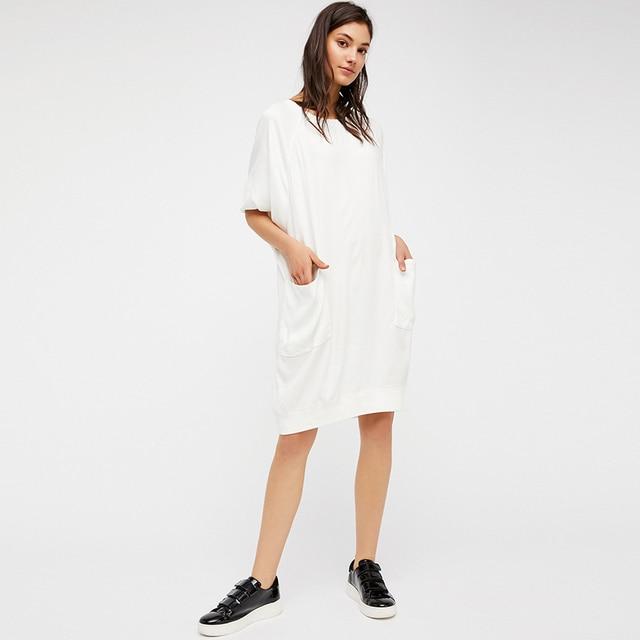 Women Summer Dress White Short 2017 Cotton Cute Maxi Dress Big ...