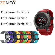 Silicone Sport 26mm Band for Garmin Fenix 5X Smart Watch Wrist Strap Replacement Watch Strap for Garmin Fenix 3/3HR 5X Plus Band strap stainless steel for garmin fenix 5x fenix 3hr fenix 3 2 1 smart watches band silicone watch wrist band 12 14