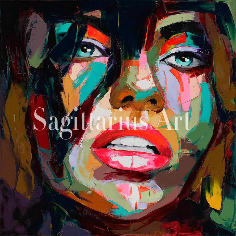 Ручная роспись дизайнер Nielly Francoise абстрактный нож палитра крутое лицо плакат