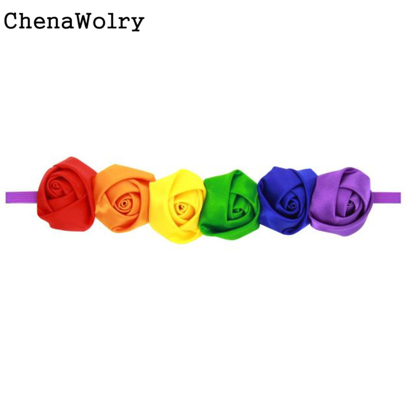 ChenaWolry New and nice design Flower Lace Fashion Children Favourite Rose Flower Shaped Baby Hairband Hair Accessories Oct 12