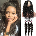 CARA Virgin Brazilian Curly Hair With Closure 360 Lace Frontal With Bundle Deep Wave Human Hair With Closure Free Shipping