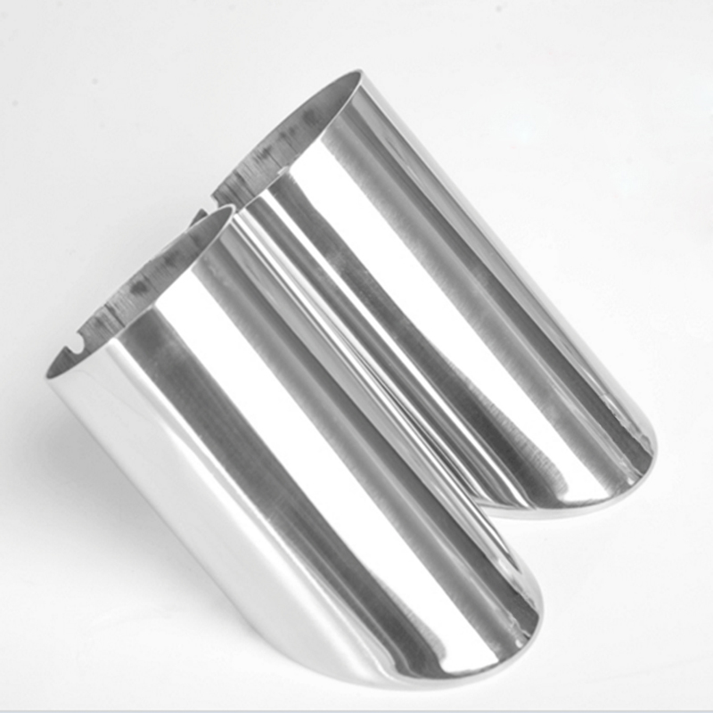 2Pcs/Set Chrome Plating Stainless Steel Car Exhaust Muffler Tip Pipes Covers for Audi A1 A3 A4 TT 2009-2015/VW Volkswagen PASSAT