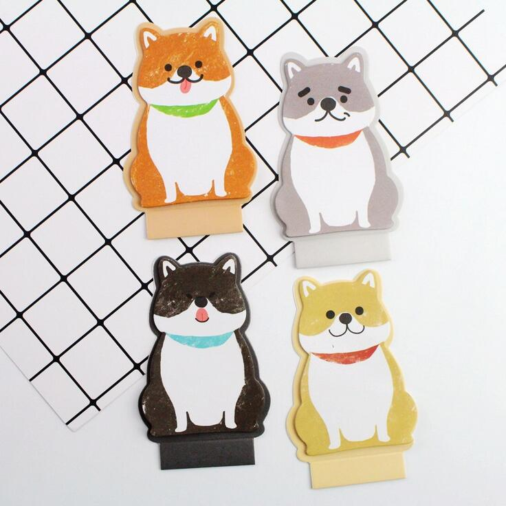 Happy Dogs Memo Pad N Times Sticky Notes Escolar Papelaria School Supply Bookmark Label