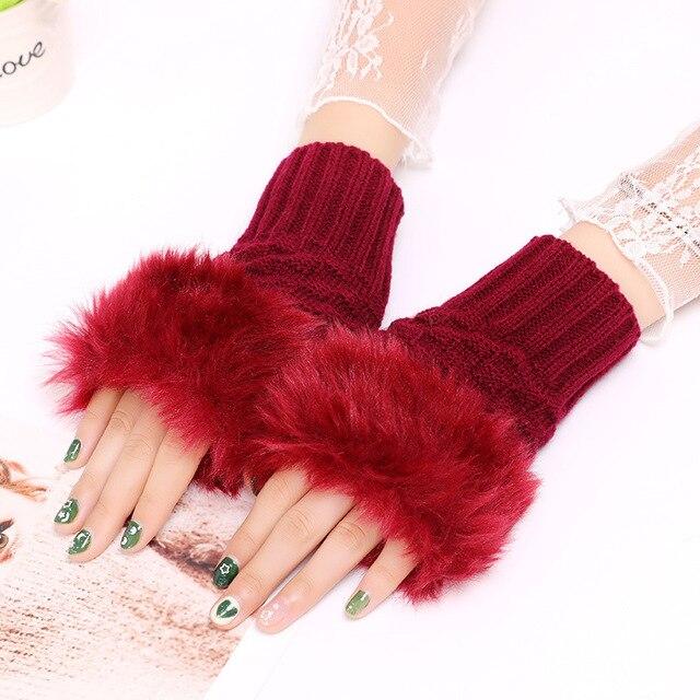 Winter Knitted Gloves New Wrist Trim Gloves 2