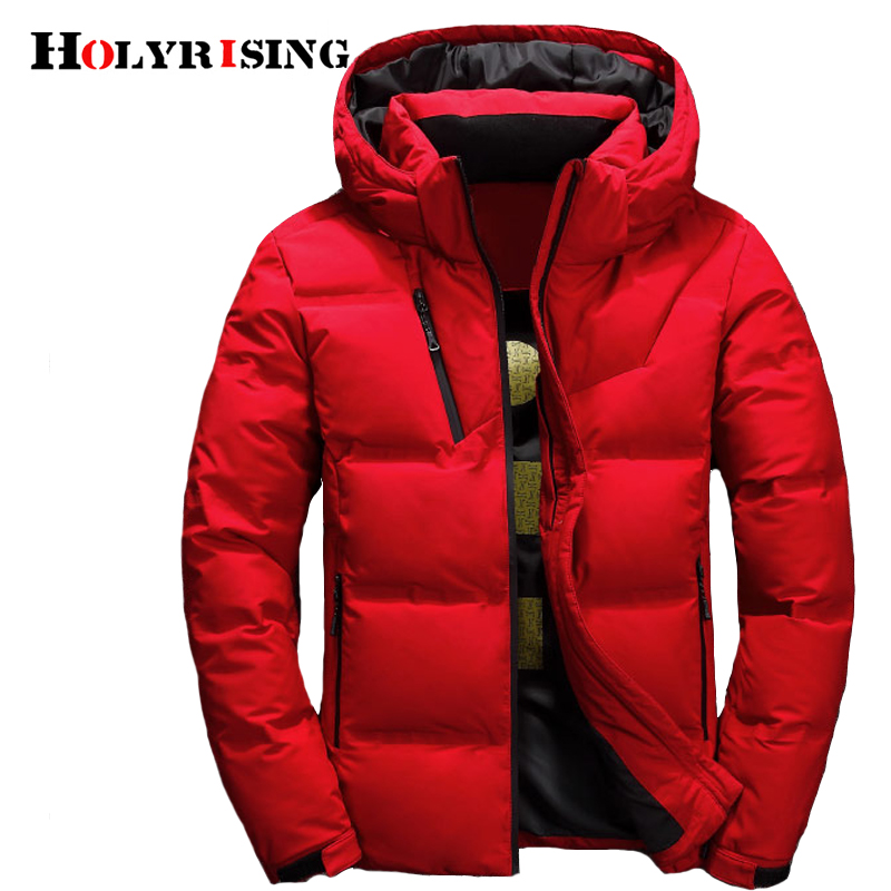 Holyrising piumino uomo inverno 3 color doudoune Jacket Men Hooded White Down Coats