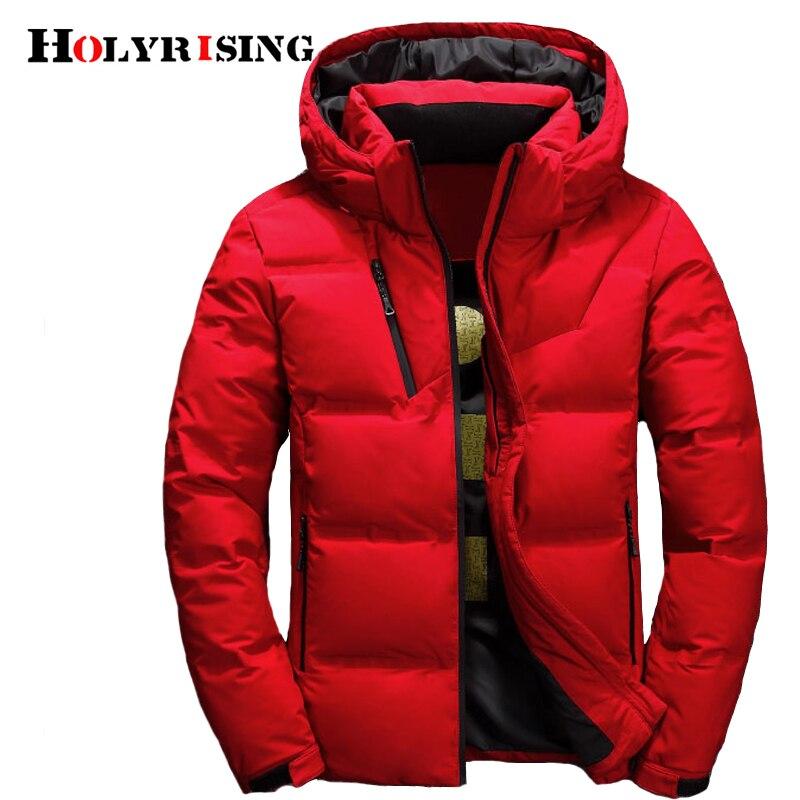 남성 다운 코트 piumino uomo inverno 3 색 une une 자켓 남성 후드 방풍 아우터 캐주얼 화이트 다운 코트 18518 5-에서다운 재킷부터 남성 의류 의  그룹 1
