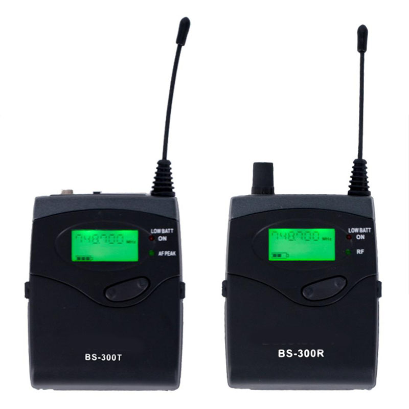 UHF 740.1 771MHz wireless headset microphone audio guide system professional camera interview external recording lavalier pocket