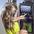 Actualización auto asiento trasero del coche del organizador del sostenedor multi-bolsillo colgando bolsa de almacenamiento de viaje para ipad 2/3/4/air pro