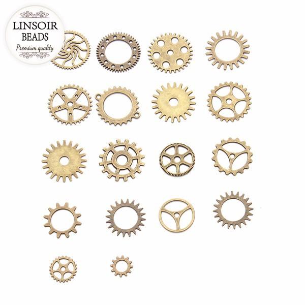 steampunk gears - bronze