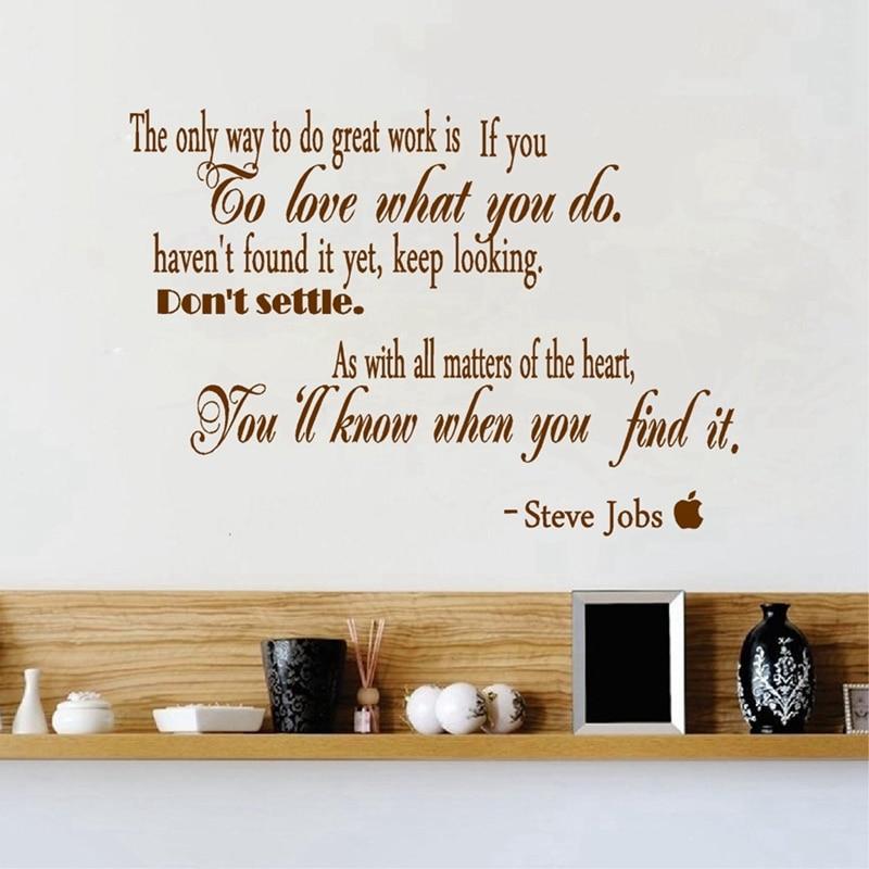 ᐂlivraison Gratuite Steve Jobs Amovible Stickers Muraux