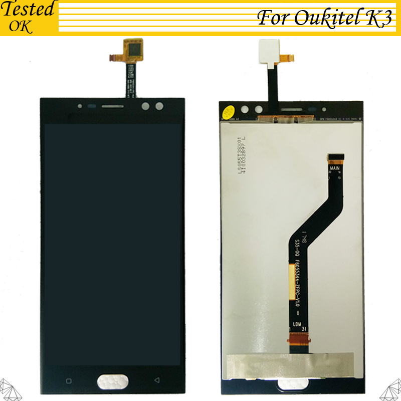 5.5Inch For Oukitel K3 LCD Display and Touch Screen Assembly Mobile Phone Accessories For Oukitel K 3 LCD5.5Inch For Oukitel K3 LCD Display and Touch Screen Assembly Mobile Phone Accessories For Oukitel K 3 LCD