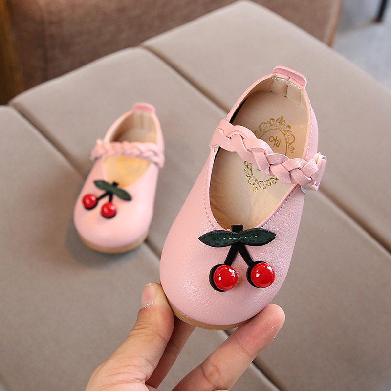 Toddler Girl Princess Casual Shoes White Pink Black Newborn Artificial Moccasins Soft Bottom Children Girls Leather Shoes 1*Pair