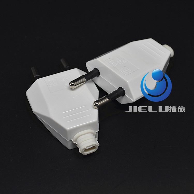 European EU Rewireable Power Plug White Color,16A 250V,50 pcs 50 pcs european eu cee 7 16 type c rewireable power plug black color