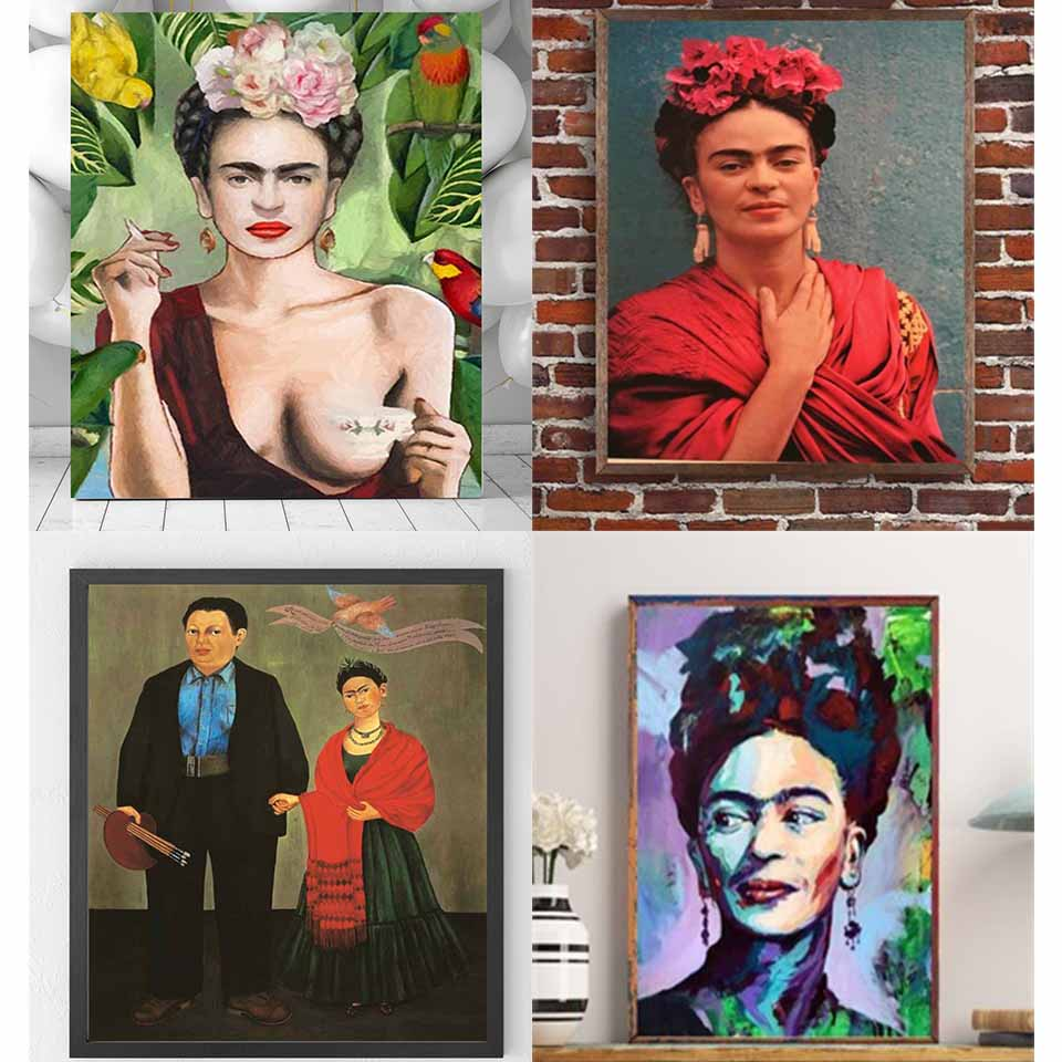 Frida Kahlo Canvas Painting oil Posters wall Art Prints wall pictures for living room Decoration Self-portrait photo Artwork