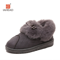 2016 New Warm Soft Sole Women Indoor Floor Slippers Flannel Home Slippers 2 Color Flock Plush