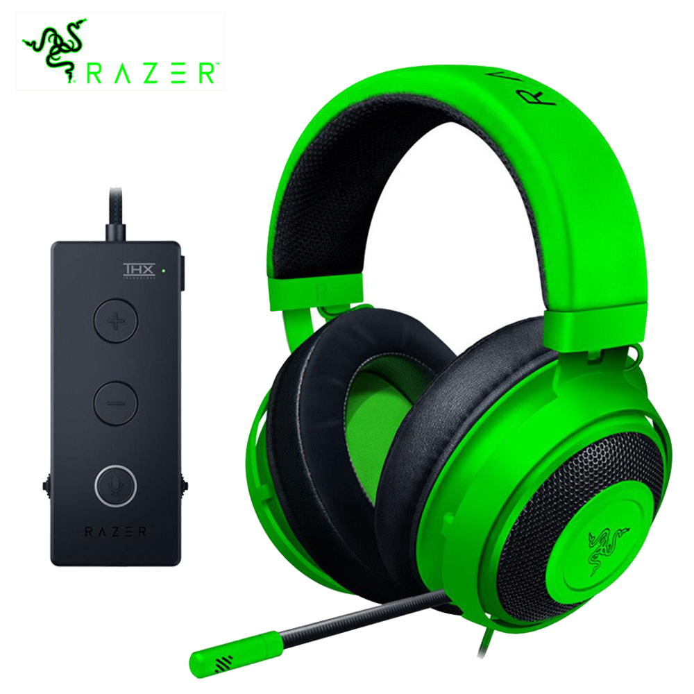 Razer Kraken Tournament Edition Gaming Headpset 3 5mm jack Works with PC PS4 Xbox One Switch