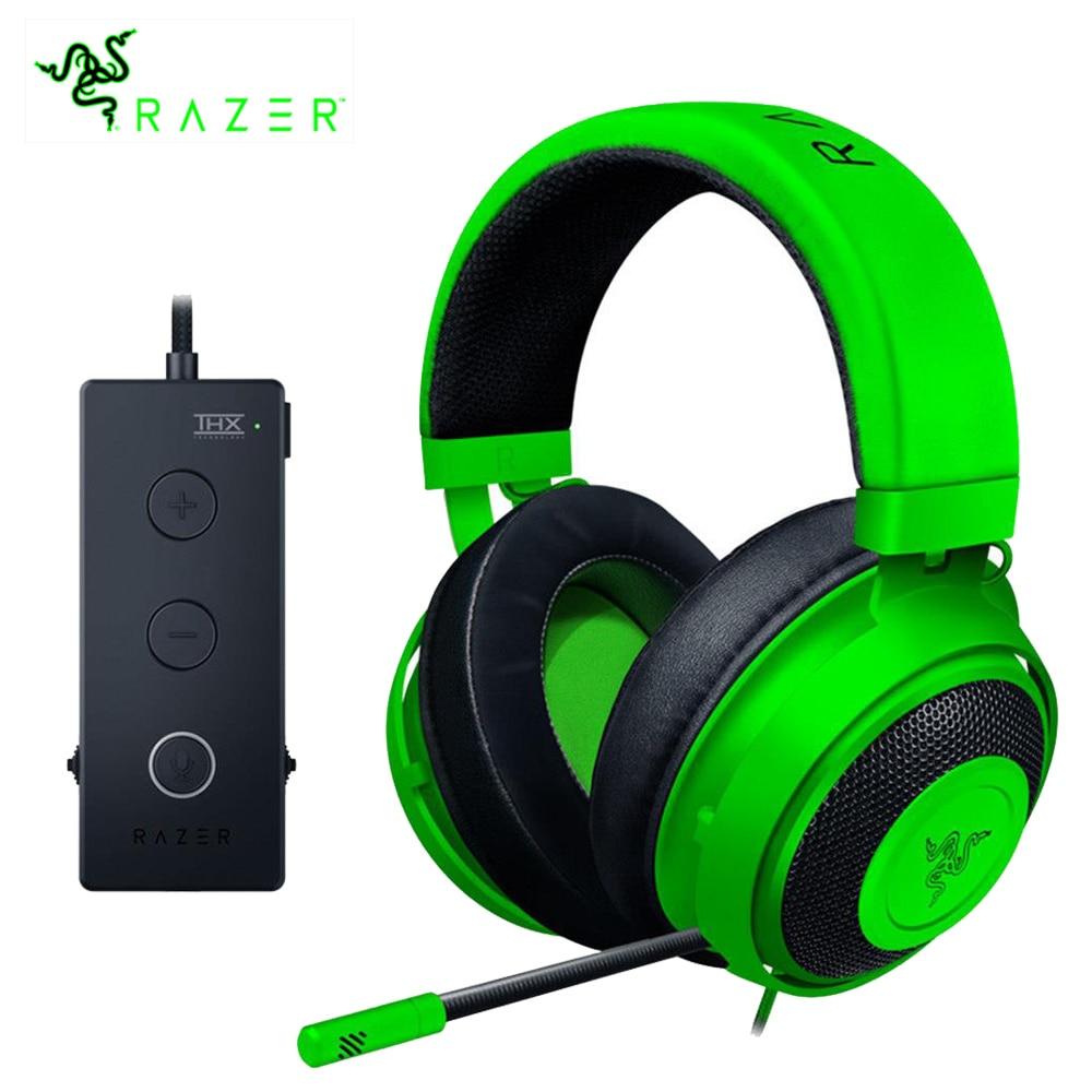 Razer kraken tournament edition gaming headpset 3.5mm jack funciona com computador, ps4, xbox um, interruptor, dispositivos móveis gamer fone de ouvido