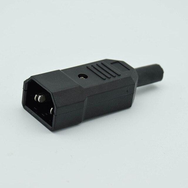 IEC прямой кабель Разъем C13 C14 10A 250 В черный женский и мужской разъем Rewirable разъем питания 3 контактный разъем переменного тока