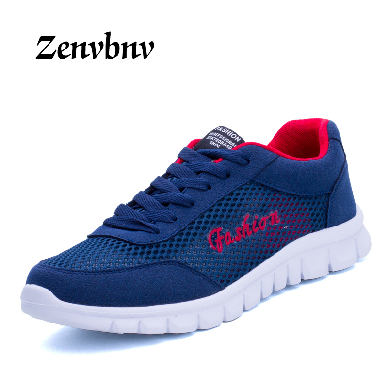 ZENVBNV Mens Lightweight Fly weave Outdoor Spring/Summer Running Sport Shoes For Male Breathable Athletic Sneakers 39~44 size