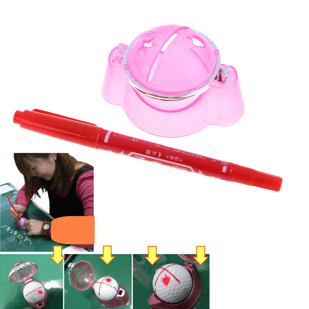 Hot Golf Ball Liner Marker Template Drawing Alignment Tool Plastic