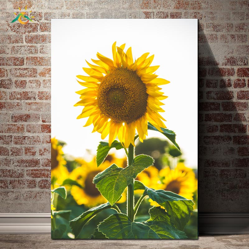 Sunflower Nordic Poster Modern Wall Art Canvas and Print Painting Decorative Decoration Home