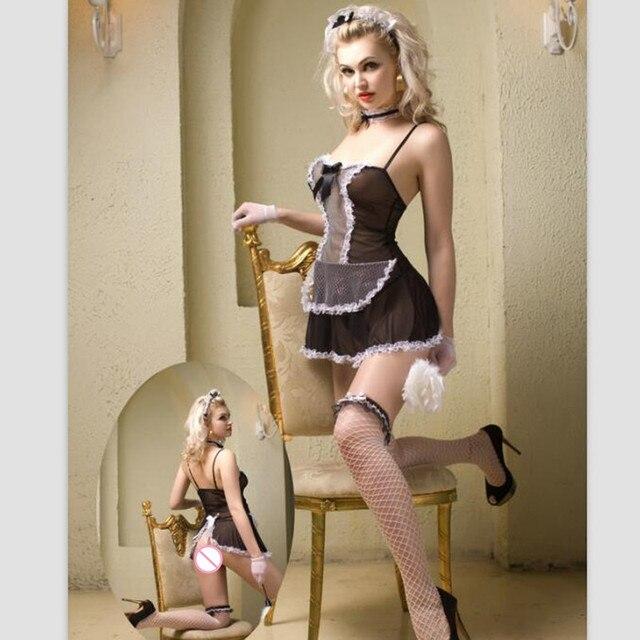 b1361f92e Nova Francês Da Empregada Doméstica Trajes Sexy Mulheres Lingerie Sexy  Linda Francês Da Empregada Doméstica Sexy