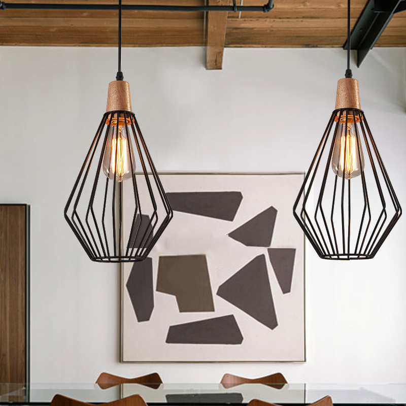 Antique brass wire cage pendant light black birdcage pendant lights antique brass wire cage pendant light black birdcage pendant lights iron retro scandinavian with led warm bulb cafe droplight in pendant lights from aloadofball Image collections