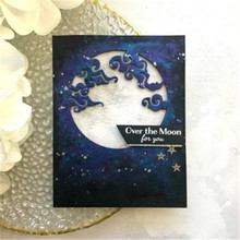 Naifumodo Cloudy Moon Fancy Metal Cutting Dies for Scrapbooking Card Making Album Embossing Crafts Diecut Stencil New Template