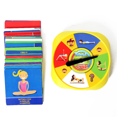 54Pcs Yoga Pose Cards Toys Fun Family Yoga Game of Flexibility and Balance For Children Gift Visual Perception Educational image