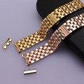 De metal de lujo Venda de Reloj correas de reloj de acero inoxidable Correa de Reloj de Oro Rosa Pulsera de Oro 18mm 20mm 22mm 24mm curved end envío