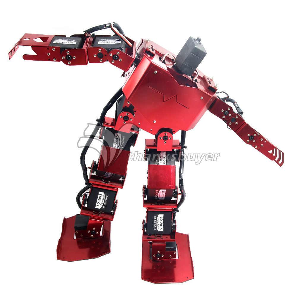 17DOF robo-душа H3.0 двуногая Робототехника робота-гуманоида Алюминий Frame полный комплект с 17 шт. Servo и контроллер Arduino DIY robo-душа