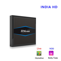 India TV Box Homelive Pack LiveHD H96mini Android 7.1 TV Box Amlogic S905W Quad Core 2GB/16GB set top box