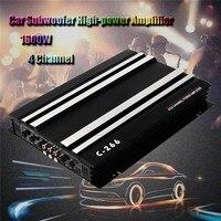 KROAK 1600 Watt 4 CH 4 Channel 12V Car Audio Power Amplifier Amp Aluminum Alloy Black