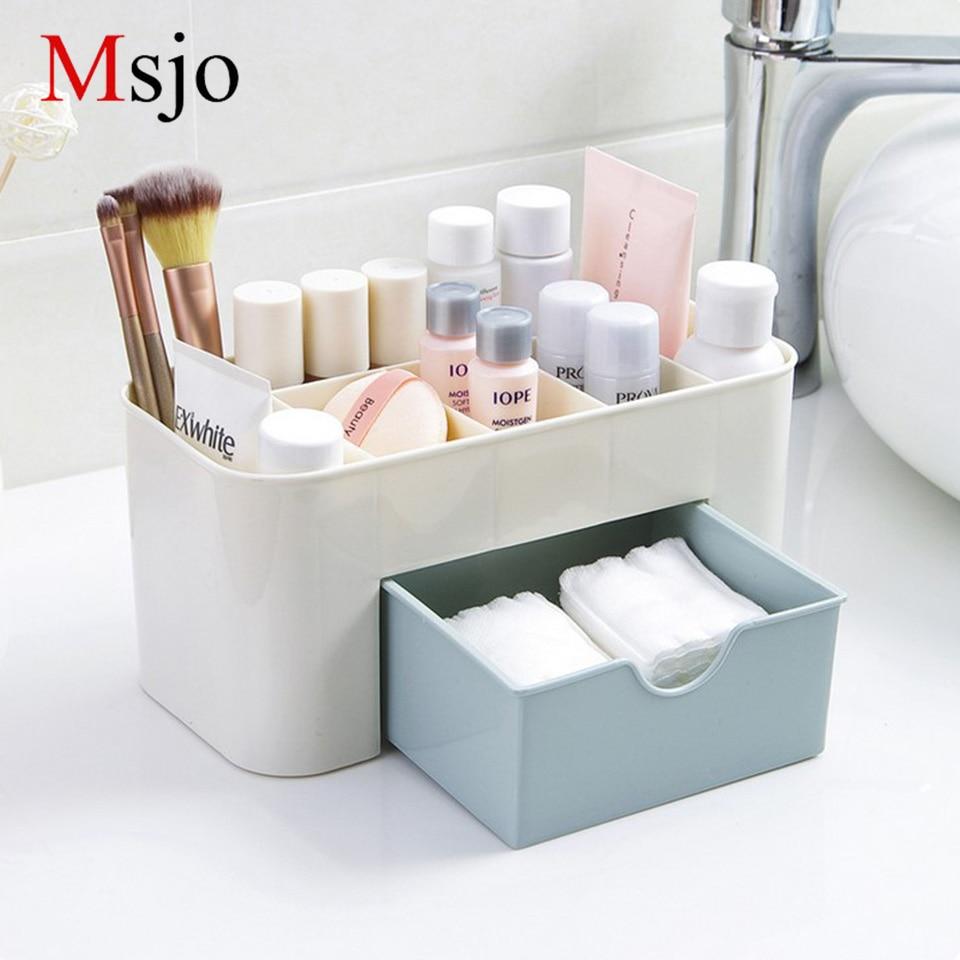 Msjo Makeup Organizer Box Smycken Halsband Nagellack Örhänge Plast - Hemlagring och organisation