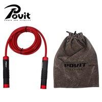 POVIT 3M Crossfit Heavy Bearing Skipping Rope Aluminium Handle Bold PVC Rope Gym Exercise Jump Rope Fitness Training Equipment