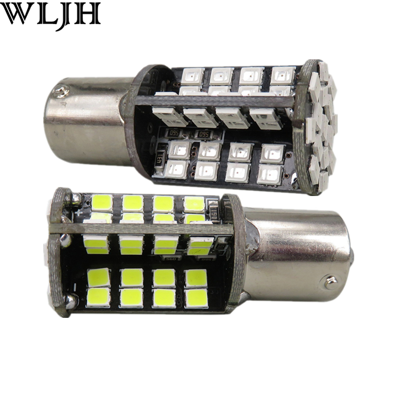 WLJH 2x Canbus No Error LED P21W 1156 BA15S DRL Driving Daytime Running Fog Lamp Light For VW Sagitar Jetta MK6 2011 2012 2013 wljh 2x canbus led 20w 1156 ba15s p21w s25 bulb 4014smd car lamp drl daytime running light for volkswagen vw t5 t6 transporter