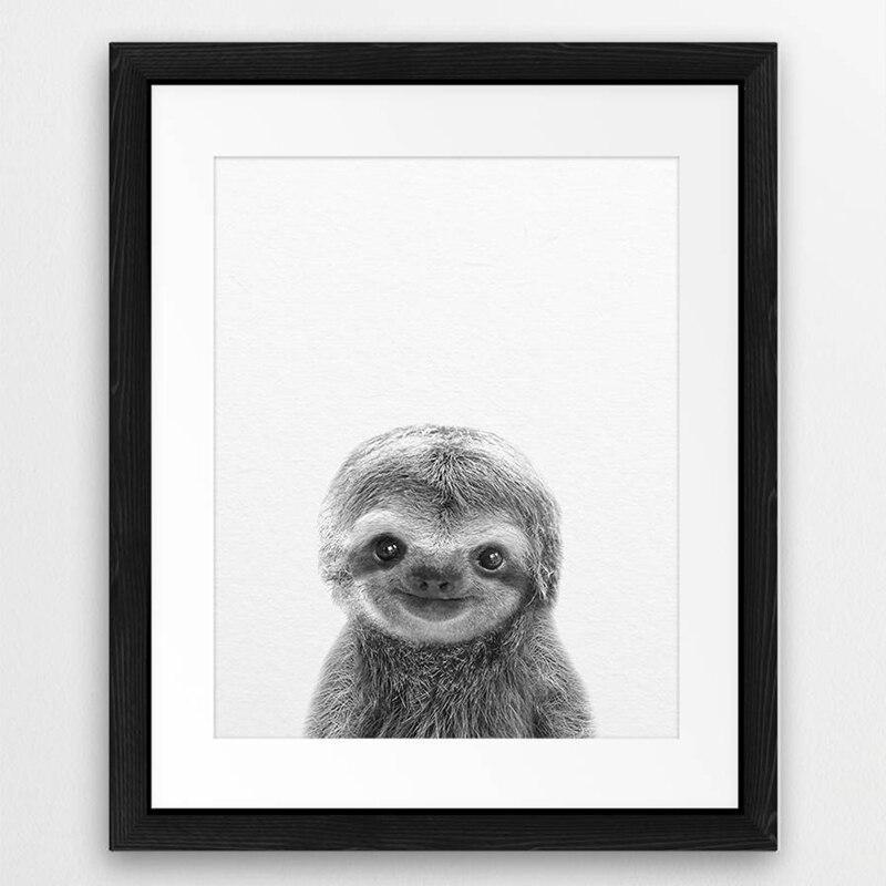 sloth poster,sloth prints,sloth wall art,paint sloth art print,sloth canvas art
